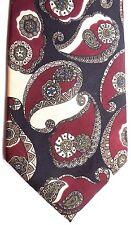 "Hickok Men's Silk Tie 57.5"" X 4"" Multi-Color Abstract Paisley"