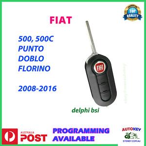FIAT KEY REMOTE FOR 500 PUNTO DOBLO FLORINO ABARTH 2007-2016