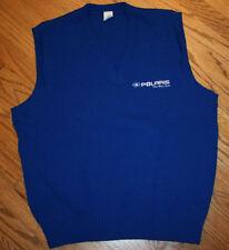 Polaris blue v-neck acrylic Sweater Vest Men's Large snowmobile apparel/snow/USA