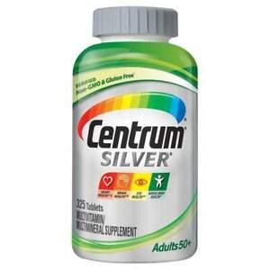 Centrum Silver Adults 50+ Multivitamin, 325 Tablets Men&Women FREE SHIPPING!!