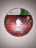 Major League Baseball 2K12 (Microsoft Xbox 360, 2012) DISC ONLY Tested Fast Ship