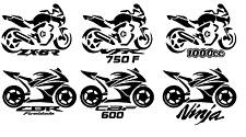 Motor bike vinyl decal sticker , CBF-600 , or add your own like GSX R, VFR, CBR