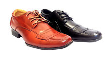 Mens Smart Black Italian Lace Up Shoes Office Wedding Work Formal Party Size New