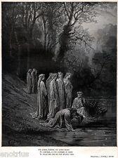 PURGATORIO: PURIFICAZIONE DI DANTE. Paradiso Terrestre.Doré.Divina Commedia.1880