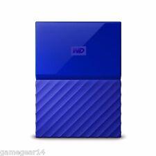 Western Digital WD My Passport 1TB Portable External Hard Drive Disk Blue