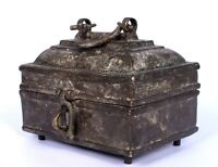 Rare Collectible Indian Solid Brass Genuine Old Antique Decorative Box. G7-56 US