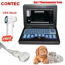 Portable Vet Machine Veterinary Ultrasound Scanner 35mhz Convex Probe Usa Fedex