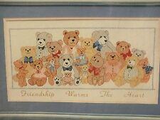 Friendship Bears Golden Bee Cross Stitch Kit Friendship Warms the Heart Bears