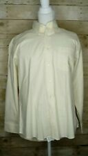 Duck Head Mens NWT yellow button down Shirt Large L long Sleeve cotton polyester