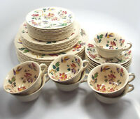 Antique Wedgwood Etruria Swallow China Set, 40 Pieces
