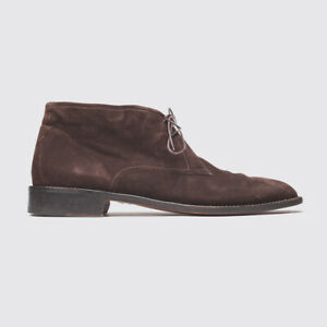 Cole Haan Boots Size 13 Men Dark Chocolate Suede Berto Chukka with Leather Sole