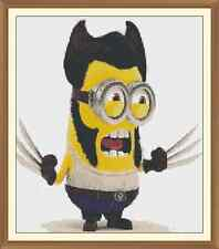 Minion WOLVERINE Cross Stitch Chart  x 12.0 x 10.4Inches