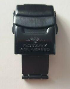 ROTARY  AQUASPEED SPARE BRACELET CLASP BLACK INCLUDING BARS 20mm fit STKG3