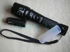 Zoomable 1600 Lm Flashlight CREE XM-L T6 LED 5-Mode Zoom Torch Px