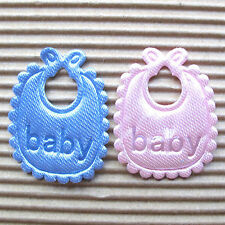 "US SELLER - 80 x 1.25"" Padded Satin Baby Bib Appliques for Scrapbook/Baby ST63X"