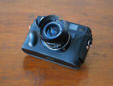 Zhou Black Half Leather Case for Leica Minolta CL