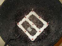 """Aeroponic Hydroponic Garden Cloning 9 Sprayer Manifold 7"""" x 7"""" EZ Clone System"""