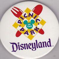 "VINTAGE 3"" PINBACK #35- 167 - DISNEY - DISNEYLAND - PICNIC PARK"