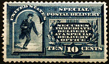 #E1 10c Blue Special Delivery 1885 VF MLH NICE CV $550+