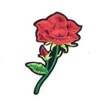 EMBROIDERED APPLIQUE - IRON ON - RED ROSE...........A064