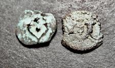 2 Judaean Widow's Mite Coins Lot, Jewish Kings, Shanah Tovah, Cornucopia, HEROD