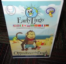 """NEW EARLY LINGO """"OPPOSITES AT THE BEACH"""" DVD, PART 3 OF 12 ITALIAN EDITION, NIP"""
