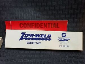 NOS Confidential Red Tape Strip Seal Zipr-Weld FBI Police CSI NCIS