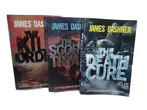 James Dashner 3 Book Lot: The Kill Order / The Scorch Trials / The Death Cure
