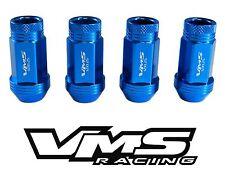 VMS RACING 20PC 48MM PREMIUM EXTENDED LUG NUTS BLUE FOR 15-16 SUBARU WRX STI