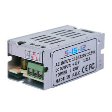 Regulated Switching Power Supply 15W Watt DC 12V Volt 1.25A Amp (USA Stock)
