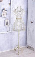MANICHINO SARTORIALE Busto da vetrina Figura di ferro Vintage Stile rustico
