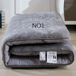 Coral Fleece Fabric Sponge-filled Resistant To Cold Mattresses Foldable Mats Bed