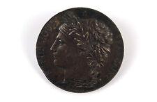 """French Bronze Medal """"REPUBLIQUE FRANCAISE"""" by J C Chaplain c1900"""