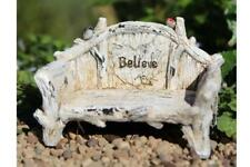 Miniature Dollhouse FAIRY GARDEN - Believe Bench - Accessories