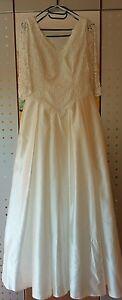 Brautkleid Hochzeitskleid 42, champagner-farbig, edle Spitze