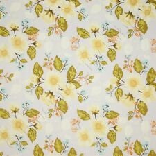 Riley Blake Promenade Floral Blue Yellow Flower Cotton Quilt Quilting Fabric /Yd