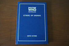 Dr Who Novellas Citadel of Dreams by Dave Stone (2002, Hardcover)