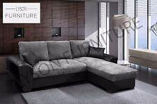 Gianni - Giani Corner Sofa Bed Fabric Right Hand Side Grey