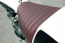 GENUINE Triumph Bonneville / Thruxton / Scrambler Oxblood Brown Seat NEW
