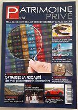 Patrimoine Privé magazine conseil en investissement et placement 2017