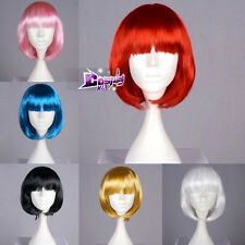 UK SELLER Bob Style 13 Colors 40cm Wavy Anime Cosplay Hair Fancy Dress Wig