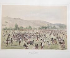 Ball Play , George Catlin, Original Lithograph,Limited Edition 1970