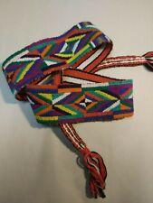 Handmade sash hip belt ethnic colorful bold colors costume hippy intricate work