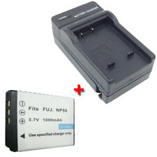 NP-50 Replacement Battery + Charger for FUJIFILM FUJI FinePix F50fd F60fd F100fd