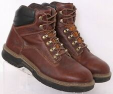 Wolverine W190038 Raider II Brown Leather Lace-Up Ankle Work Boots Men's US 8.5M