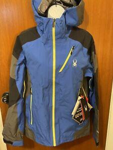 Spyder Mens Ski Eiger Jacket Small Blue 181746