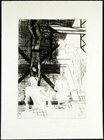 Kunst in der DDR, 1986. Aquatinta Reinhard MINKEWITZ (*1957 D) handsigniert