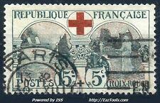 FRANCE CROIX ROUGE N° 156 AVEC OBLITERATION COTE 70€