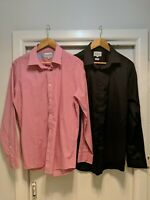 Lot Of 2 Mens Brooksfield Size 42 Long Sleeve Button Up Dress Casual Shirts