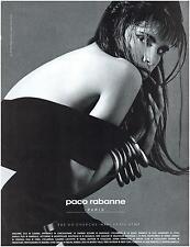 ▬► PUBLICITE ADVERTISING AD PACO RABANNE Photo Patrick Ibanez 1991